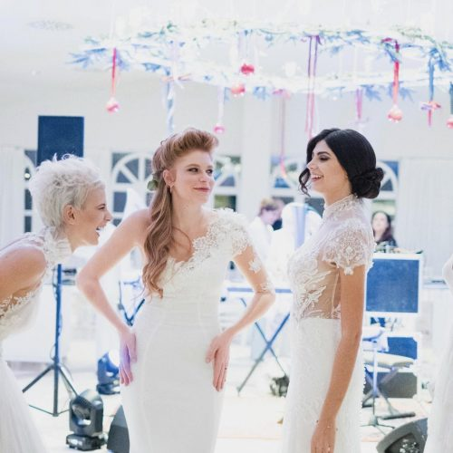 Gallery fotografica modelle con abiti da sposa