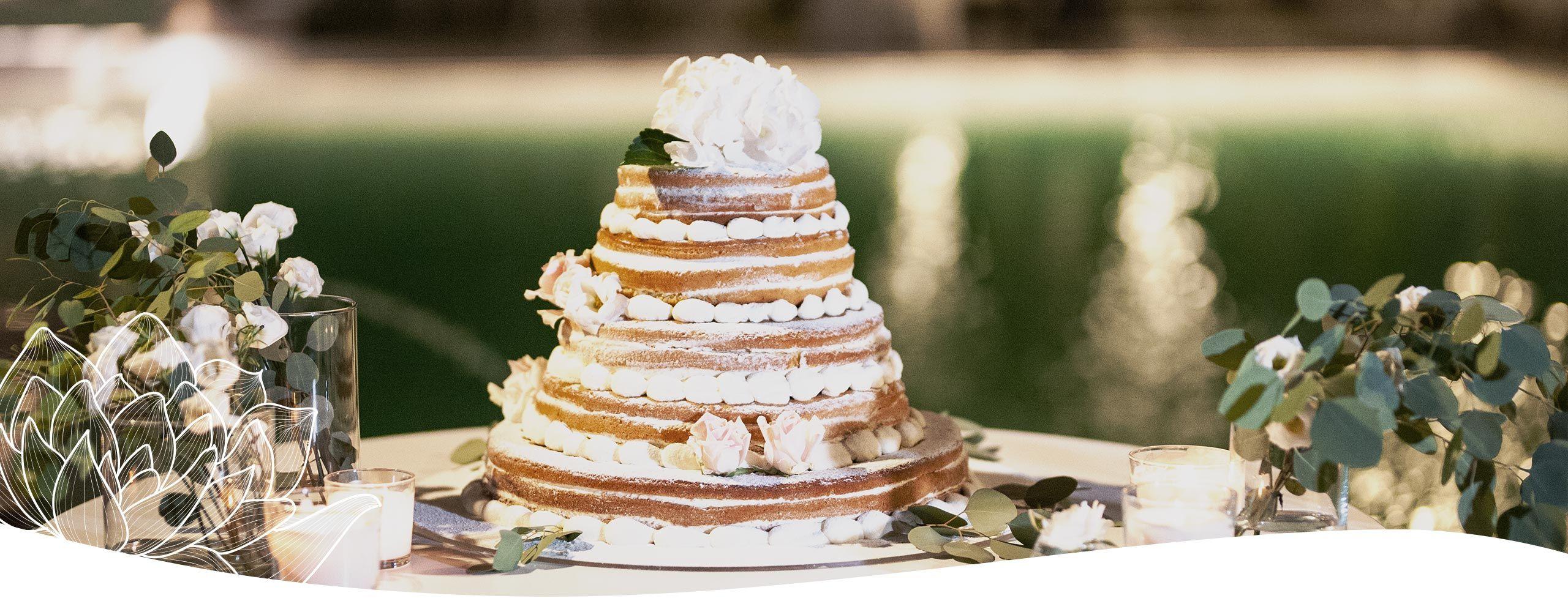 buffet dolci matrimonio naked cake