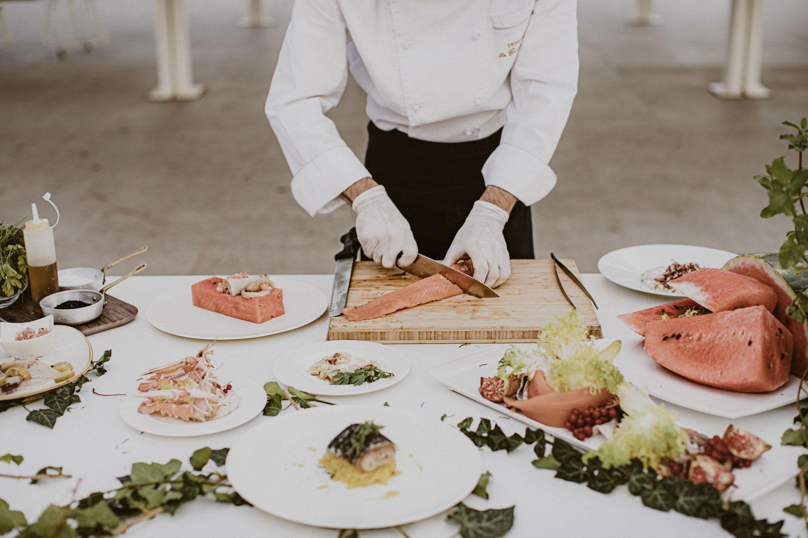 menu matrimonio preparazione piatti
