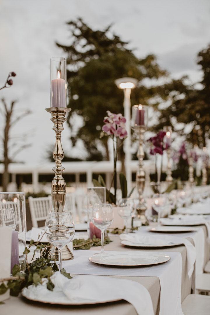 sale ricevimenti bari candele e orchidee