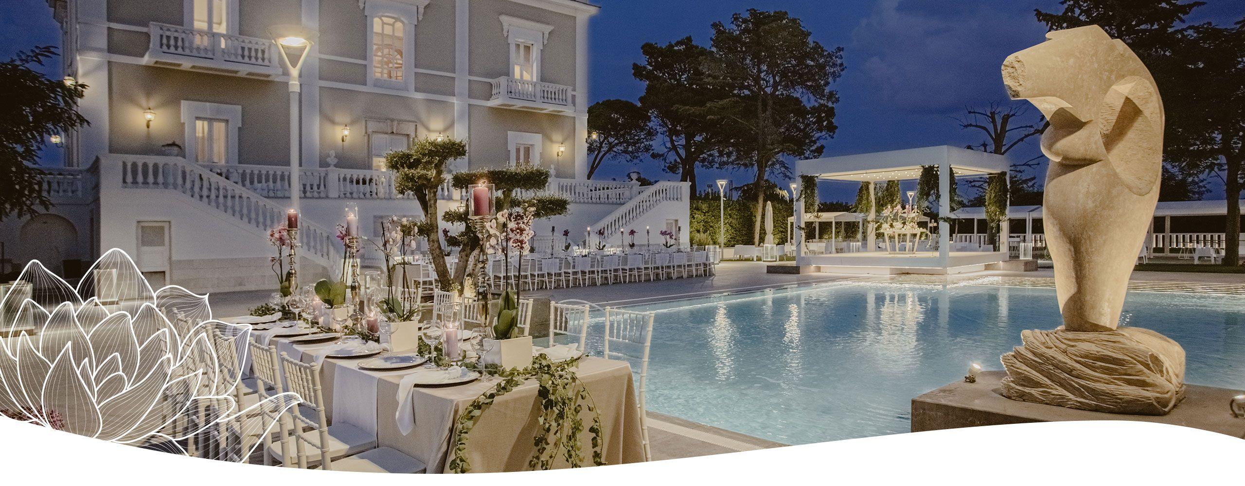wedding planner puglia allestimento in piscina